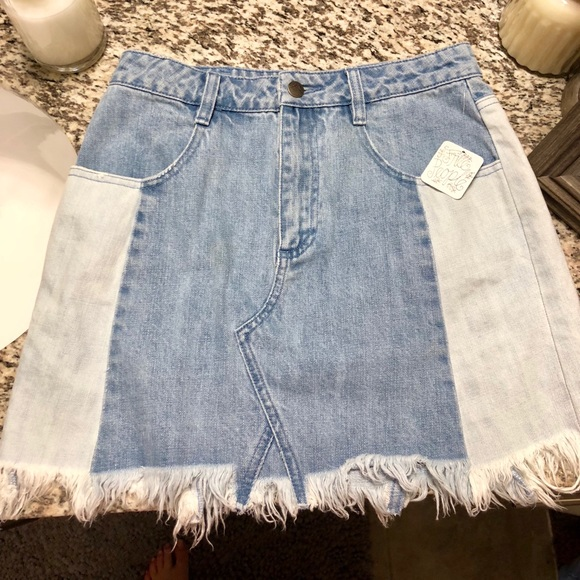 2a03f4fe1bc1f Free People Levi s Deconstructed Denim Mini Skirt